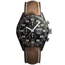 carrera watches tag heuer automatic day date carrera chronograph black titanium