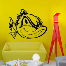 high quality fish wall mural buy cheap fish wall mural lots from funny face fish pattern art wall mural home decor vinyl wall stickers animals series wallpaper wall