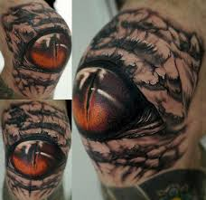 knee eye by stefano alcantara tattoos