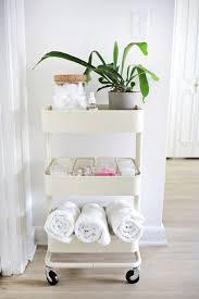 ikea raskog hack storage organization white raskog cart bathroom organizer 8