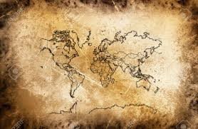 Ancient Maps Of The World by Ancient Map Of The World At The Vintage Texture Stock Photo