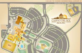 Tucson Arizona Map by Directions Casino Del Sol Resort