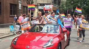 chelsea manning u0026 gavin grimm celebrate at nyc pride parade