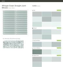 whisper green straight joint mosaic color wave mosaic daltile