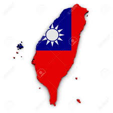 Map Of Taiwan Shape 3d Of Taiwan Map With Taiwanese Flag Illustration Isolated