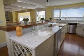 simple kitchen design with faux carrara marble kitchen countertops