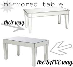 cheap mirrored coffee table cheap mirrored coffee table lucky finds