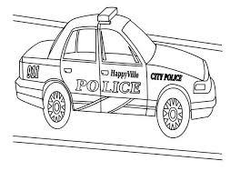 happy ville police car coloring color luna