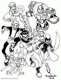 free teen titans printable coloring superheroes coloring