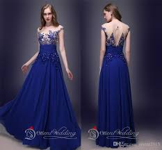 designer bridesmaid dresses 2015 designer bridesmaid dress royal blue sheert a line