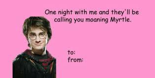 Valentine Day Card Meme - love harry potter valentines day card meme also bad valentines
