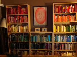 Arrange Bookshelves by Pros And Cons Of Organizing Your Books By Color The Toast
