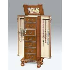 cheval jewelry armoire jewelry armoire cherry jewelry in cherry heritage jewelry armoire