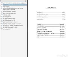 fiat kobelco w270 evolution wheel loaders service manual pdf