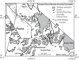 Sierra Nevada Mountains Map The Tectonic Significance Of High K2o Volcanism In The Sierra