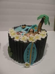 Tropical Theme Birthday Cake - tropical beach themed cake cakecentral com