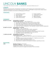 Resume Samples Clerical Administrative by Administrative Coordinator Resume Sample Free Resume Example And