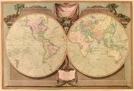 Map Of The World Art by Old Map Of The World In 1808 By Laurie U0026 Whittle Repro Vintage