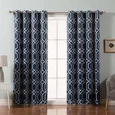 Sheer Grommet Curtains Best Home Fashion Inc Trellis Geometric Semi Sheer Grommet