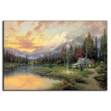 online get cheap hill oil painting aliexpress com alibaba group