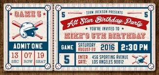 baseball ticket invitations template orax info