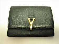 ysl business card holder yves laurent s id and badge holders ebay