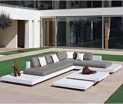 Platform Outdoor Sectional Sofa Contemporary Patio Chicago - Outdoor sectional sofas