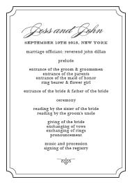 Simple Wedding Ceremony Program Wedding Programs Match Your Colors U0026 Style Free Basic Invite