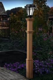 Patio Post Lights Contemporary Outdoor Post Lighting 1 Light Black Outdoor L Low