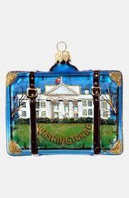 washington dc landscape polish glass christmas ornament made