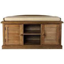 Home Decorators Bench Home Decorators Collection Weathered Oak 2 Door Storage Bench