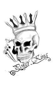 poker king tattoo sketch by tzachi07 on deviantart