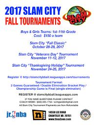 2017 slam city thanksgiving tournament november 24 25