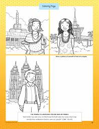 temple coloring page lds lesson ideas