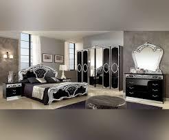Black And Silver Bed Set Home Design Sibilla Black Silver Italian Bedroom Set