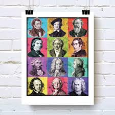 classical composers compilation music themed art print