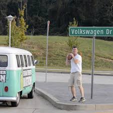 volkswagen bus beach tailgating through the nfl in a vw bus