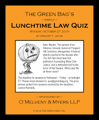 lunchtime law quizzes archive
