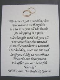 wedding gift money poem wedding invitation wording asking for money instead of gifts
