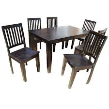 7pc Dining Room Sets 9 Pc Solid Wood Rustic Contemporary Dinette Dining Room Solid