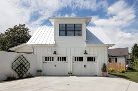 Dulle Overhead Doors In Suite Above Garage Garage Farmhouse With Single Family Home