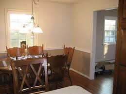 dining room paint colors with chair rail home design