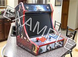 Bar Top Arcade Cabinet Amazon Com Bartop Arcade Cabinet Diy Kit Toys U0026 Games