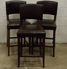 Leather Bar Chair Pier 1 Dark Brown Italian Leather Bar Stools Ebth