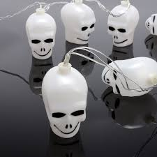 battery plug 3 5m led halloween skull string lights outdoor party