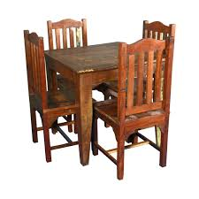 reclaimed wood square dining table reclaimed wood square dining table with 4 chairs set