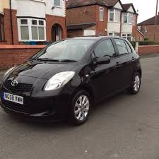 2008 toyota yaris 1 3 tr 5dr hatchback petrol manual 1 owner black