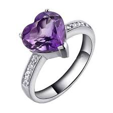 amethyst heart rings images New 1 5 ct romantic amethyst heart cubic zirconia 925 sterling jpg