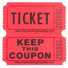 carnival king 2 part raffle tickets 2000 roll
