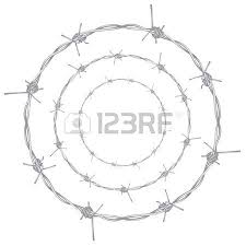 silhouette barbed wire illustration on white background royalty
